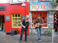 pouliční muzikanti Dublin
