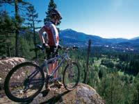 na horském kole v Kanadě